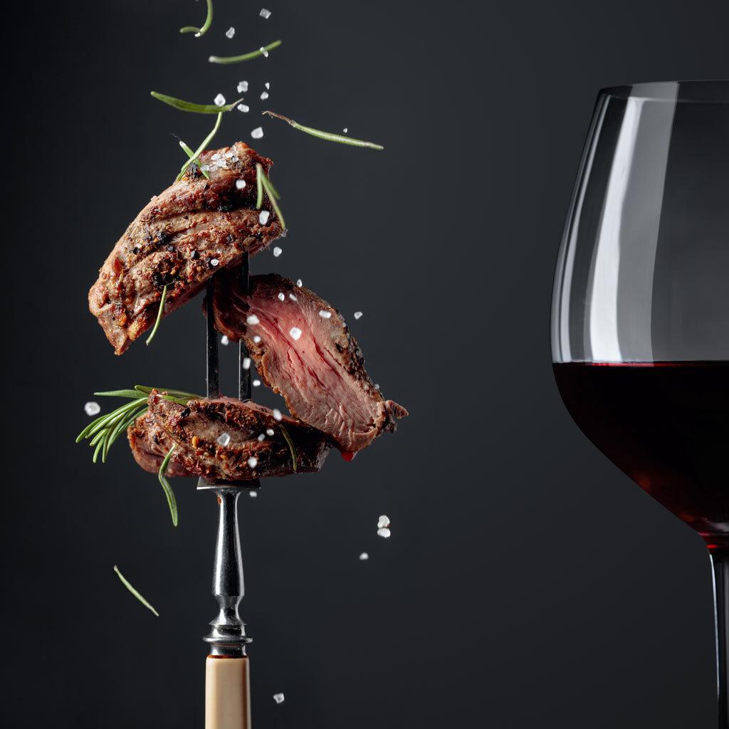 Biologische wijn bij vlees