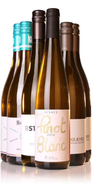 4 soorten, 6 flessen wijn voor bij asperges