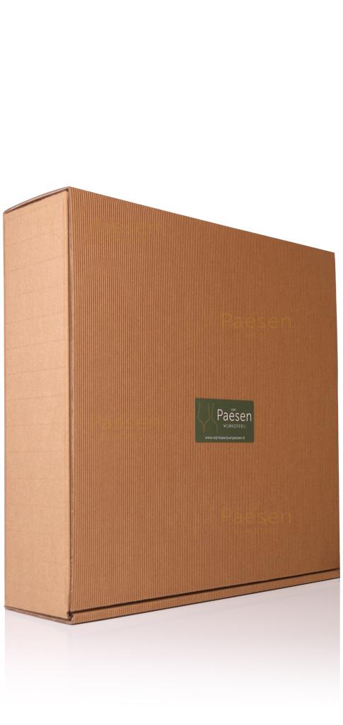 kartonnen geschenkverpakking voor 4 flessen wijn